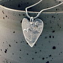 Silver Heart Necklace With Gold Detail