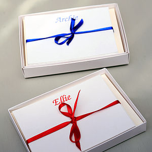 Set Of 18 Personalised Correspondence Cards - thank you cards
