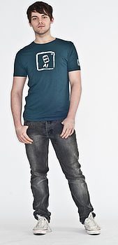 Men's Aluminium T Shirt Vintage Denim