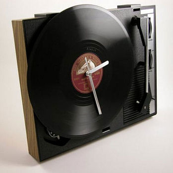 Vintage Personalised HF42 Turntable Clock