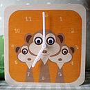 Personalised Animal Character Clock