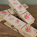 Rose garden magnetic pegs white