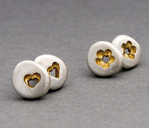 Pebble Stud Earrings - earrings