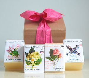 Floral Organic Soap Gift Box - bathroom