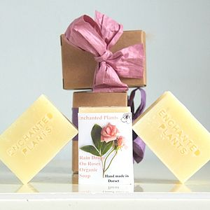 Rain Drops On Roses Organic Soap