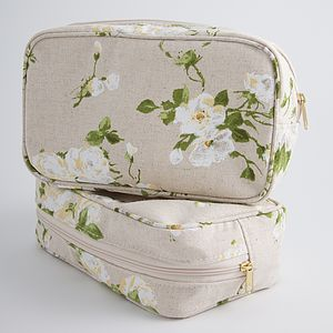 Floral Cosmetic Bag - make-up & wash bags