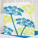 Cow Parsley Letterpress Greeting Card