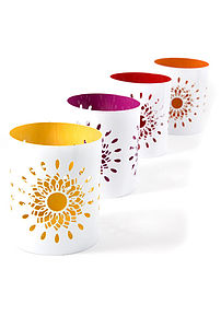 Multi-Coloured Tealight Votive Set - lighting