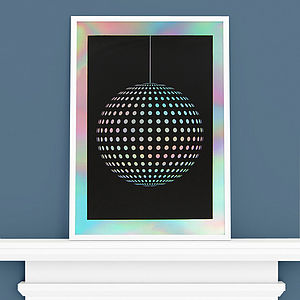 'Discoball' Screen Print