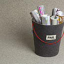 Pail Felt Storage Bucket Grey