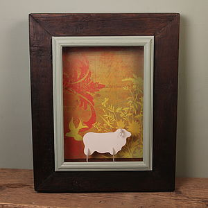 Reclaimed Wooden Box Frame - eco-conscious