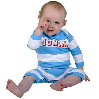 Personalised Organic Baby Romper