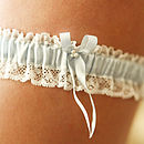 Aurelie Something Blue Silk Wedding Garter