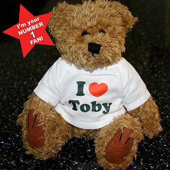 I Heart…Personalised 'No. 1 Fan' Teddy Bear