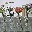Set Of Four French Style Glass Bottles