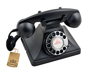 Gpo 200 Classic Rotary Dial Telephone In Black