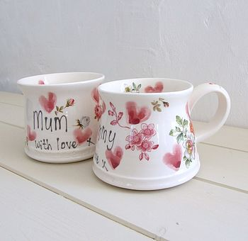 Hand Thrown Personalised Mother's Mug