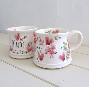 Hand Thrown Personalised Mother's Mug - mugs