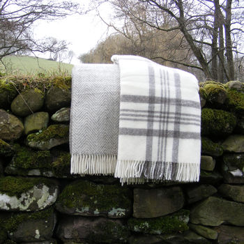 Natural Pure Wool Throw