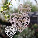 Vintage Style Love Bird Hanging Heart