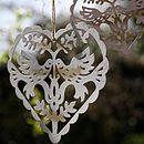 Vintage Style Love Bird Hanging Heart