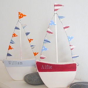 Personalised Boat With Flags