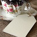 Six Large Cream Card Luggage Tags