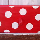 spotty peg rack_cherry red