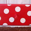 spotty peg rack_cherry red