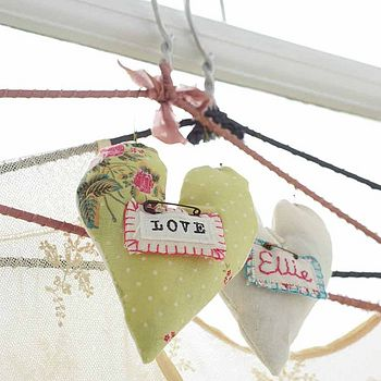 Personalised Lavender Scented Pin Heart