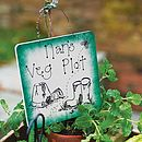 Personalised Wooden Garden Sign: green edge