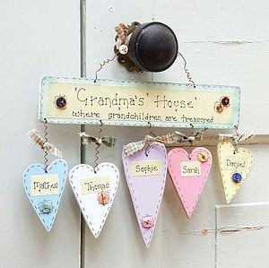 Personalised 'Grandma's House' Sign - gifts for grandparents