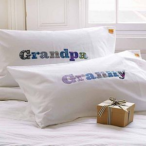Granny Grandma Grandpa Grandad Personalised Pillowcase - bed, bath & table linen