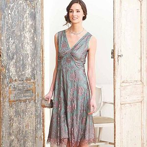 Special Occasion Lace Dress Moth And Pink - nancy mac sale