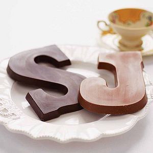 Super Large Chocolate Letter - wedding favours