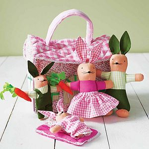 Bunnies In A Cottage - soft toys & dolls