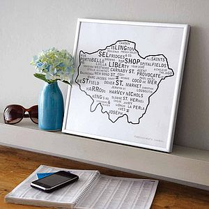 London Poster Print Original Design - frequent traveller