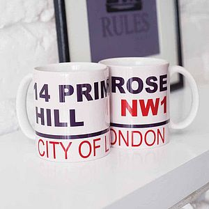 Personalised Street Mug - shop by personality