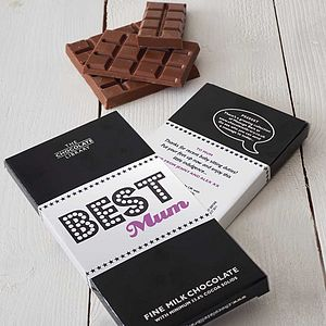 Personalised 'Best Mum' Chocolate Bar - stocking fillers under £15