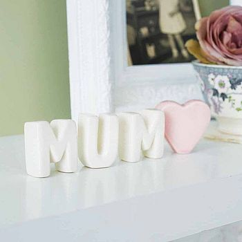 Free Standing Ceramic Letters