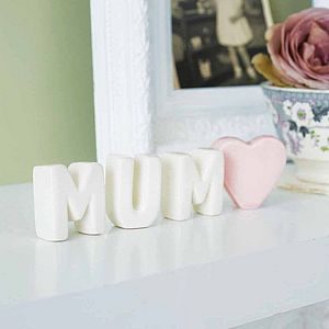 Free Standing Ceramic Letters - children's room
