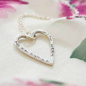 Personalised Large Open Heart Necklace - necklaces & pendants