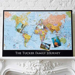 Personalised Map Of The World - frequent traveller
