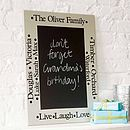 Personalised Chalkboard