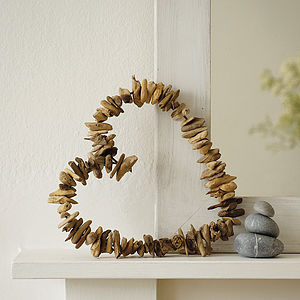 Driftwood Heart Wreath - room decorations