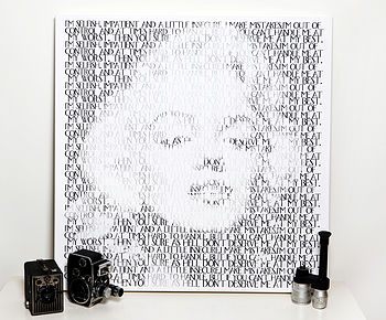 'Marilyn' Limited Edition Typographic Art