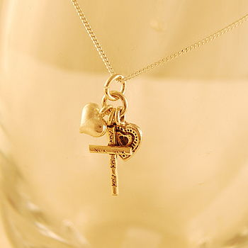 Love, Faith And Cherish Necklace