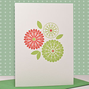 'Bouquet' Letterpress Card