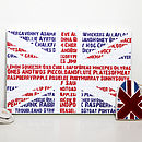 Personalised Union Jack Word Print