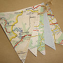 Vintage Map Mini Bunting